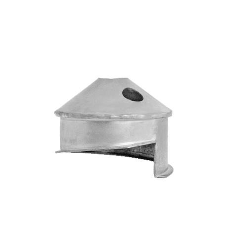 DuraVent 55VFT-IC Stainless Steel Flexible Liner 5.5 Inner Diameter - Ventinox Flexible Liner Chimney Relining - Single Wall - Installation Cone