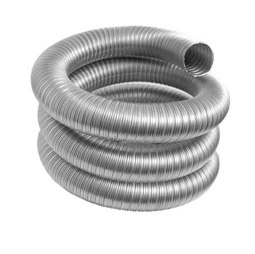 DuraVent 7VFT-35BL Stainless Steel Flexible Liner 7 Inner Diameter - Ventinox Flexible Liner Chimney Relining - Single Wall - 35  Pipe Length