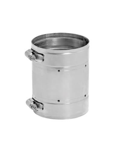 DuraVent 8VG-C Stainless Steel Flexible Liner 8 Inner Diameter - Ventinox Flexible Liner Chimney Relining - Single Wall - 4.5 Coupler