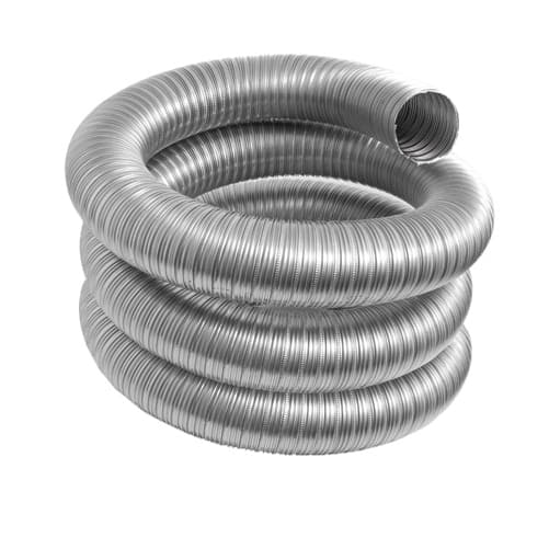 DuraVent 8VFT-25BL Stainless Steel Flexible Liner 8 Inner Diameter - Ventinox Flexible Liner Chimney Relining - Single Wall - 25  Pipe Length