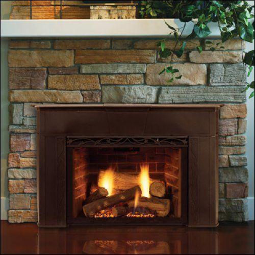 Majestic Cfx24pvdw Dark Walnut Builtin 24 Vent Free Liquid Propane Gas Fireplace System With