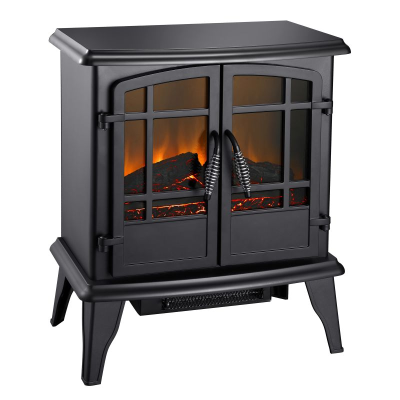 Pleasant Hearth SES-41-10 Matte Black Electric Pleasant