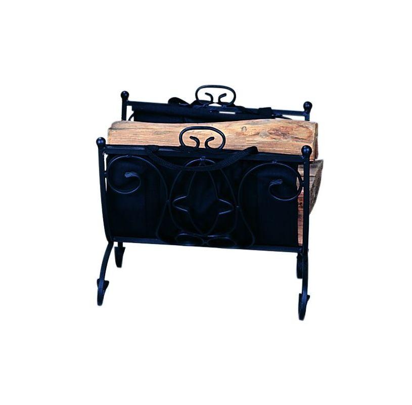 Uniflame W-1199 Black Wrought Iron Log Rack